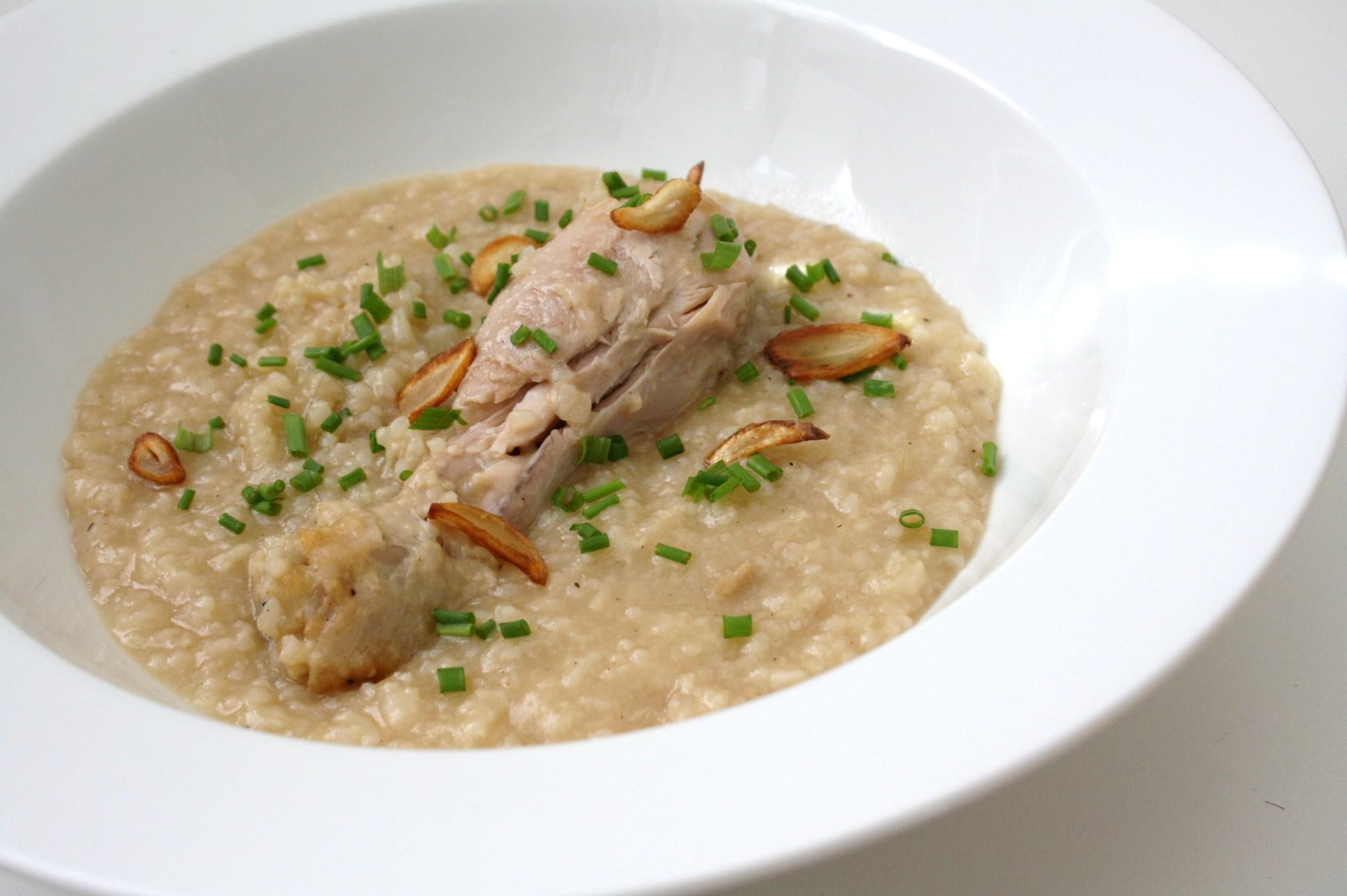 Filipino style Chicken Rice Porridge