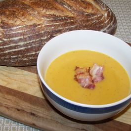 Gingered & Curried Butternut and Potato Soup