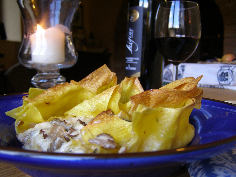 Lasagna Bianco with Porcini & Sausage