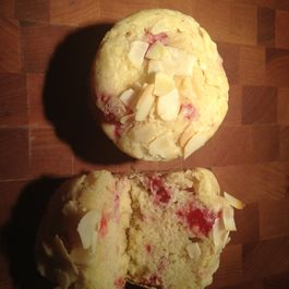 Raspberry Rose Water Muffins
