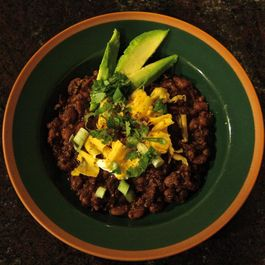 Helluva Chili (with Spiced Chocolate Grilled Sirloin)