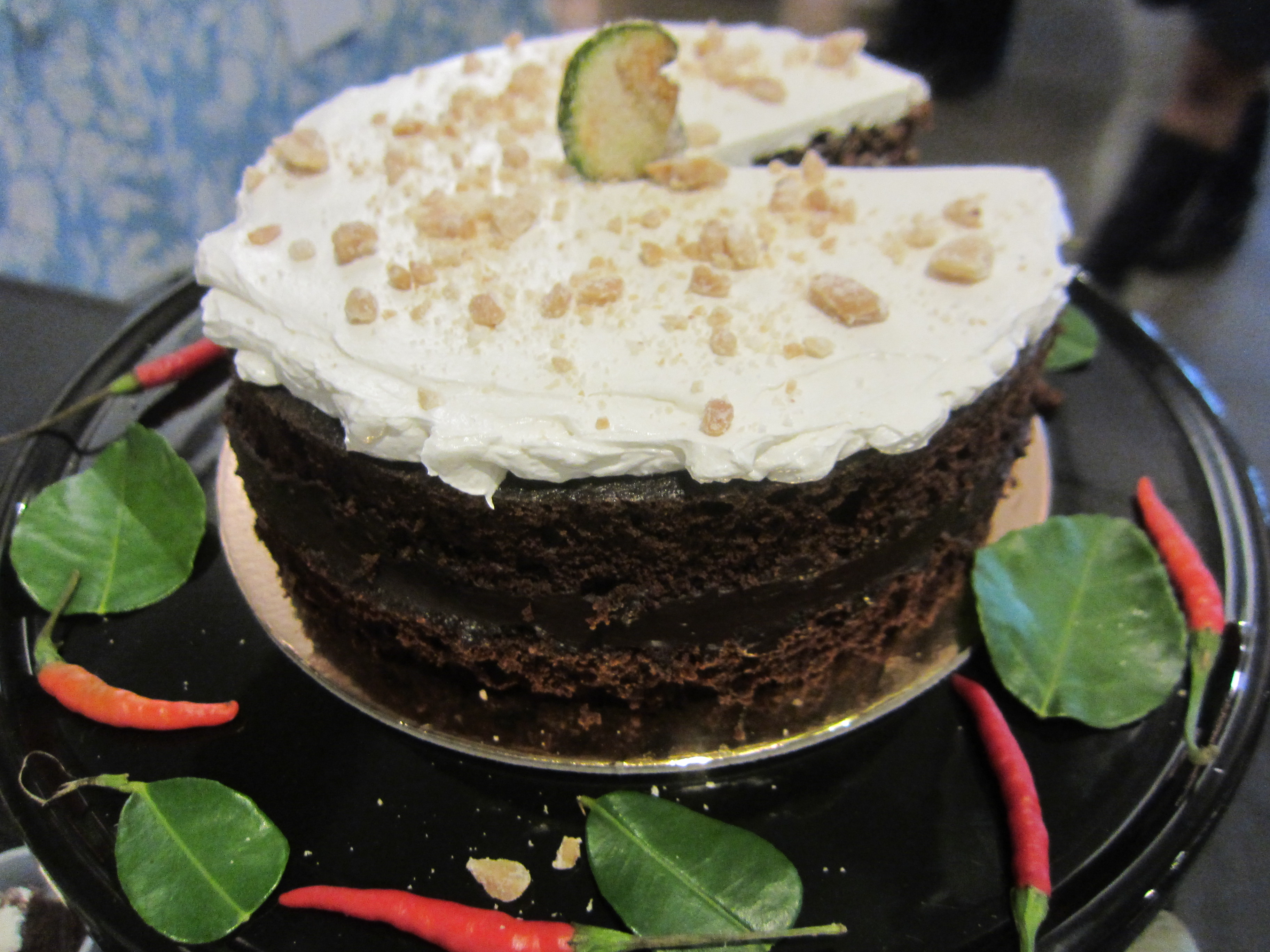 Chocolate Thai Green Curry Cake