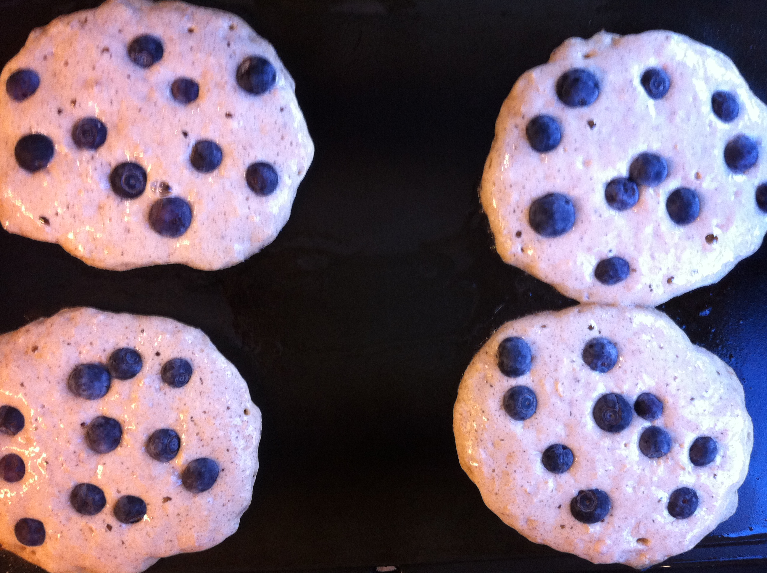 Whole Wheat Blueberry Oatmeal Pancakes