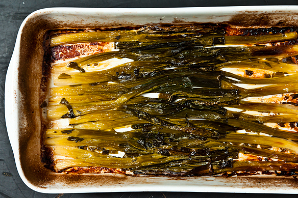 Molly Stevens' Sweet Braised Whole Scallions from Food52