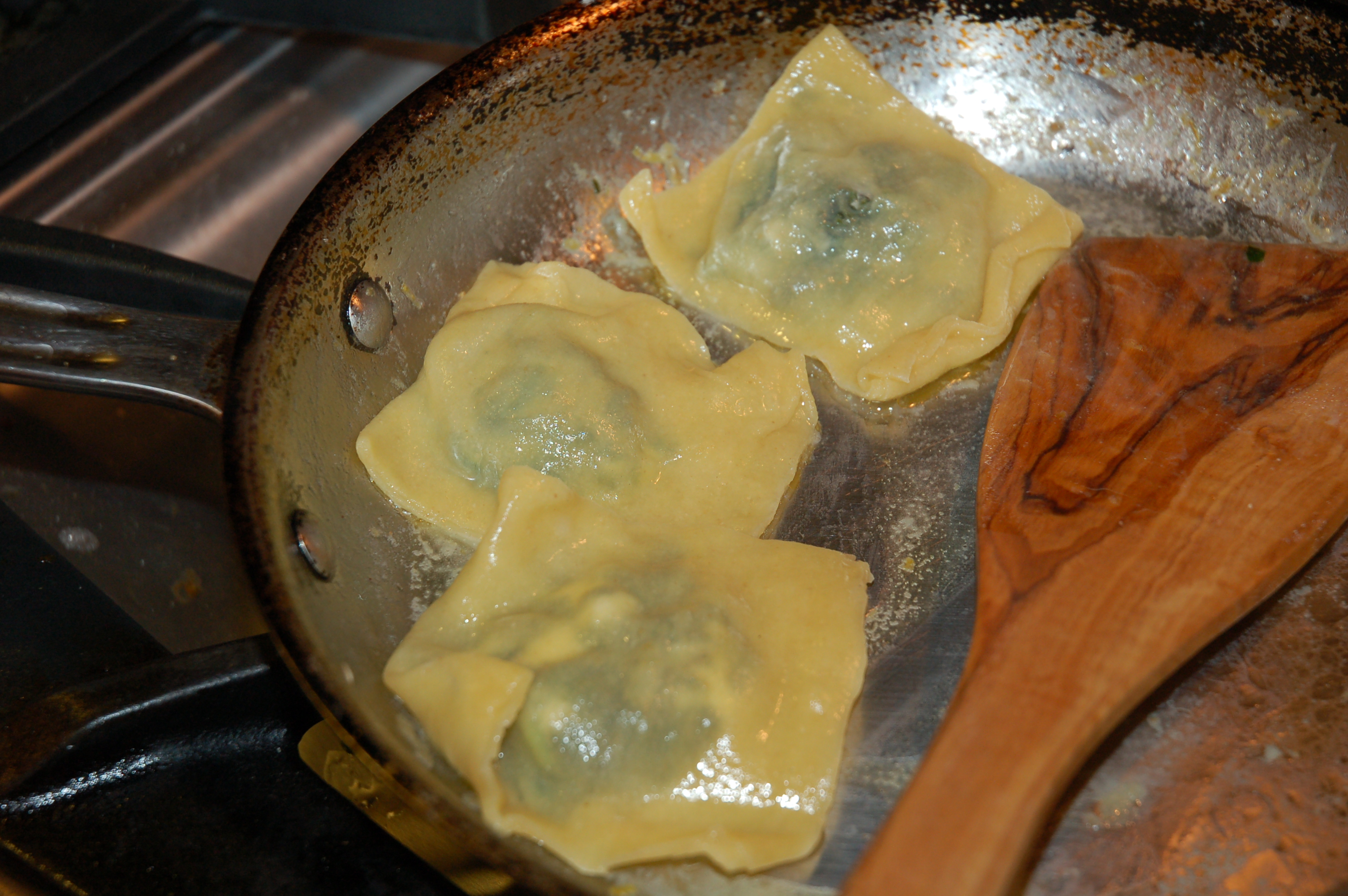 Greens-Goat Cheese-Lemon Ravioli