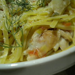 A Clam, Leek and Fennel Sauce Linguini