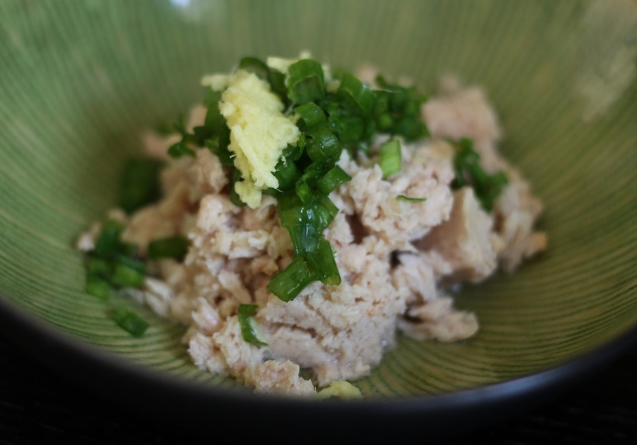 Tuna Salad with Ginger, Scallion & Wasabi