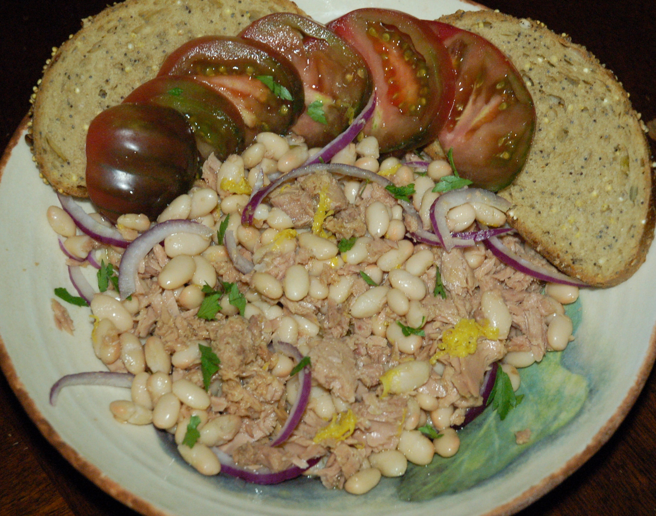 Tuna and White Bean Salad with Warm Lemon Oil and Red Onion