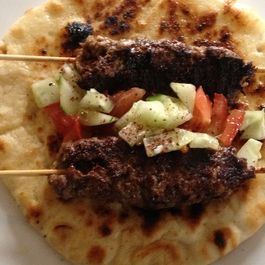 Beef Kebabs on Flat Bread