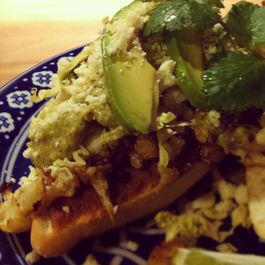 Roasted Cauliflower Torta with Creamy Tomatillo Salsa