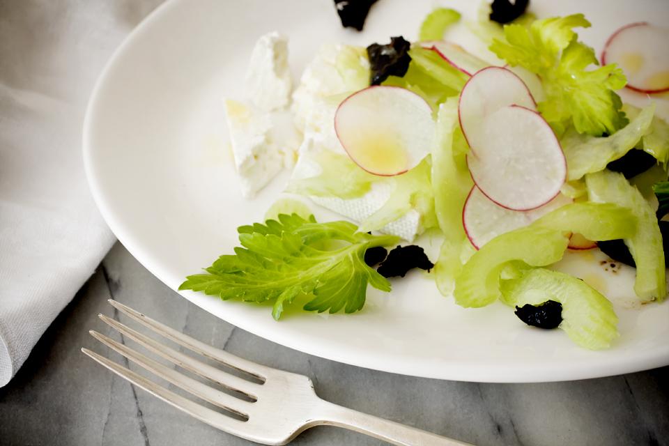 Lemony Celery Salad with Torn Olives