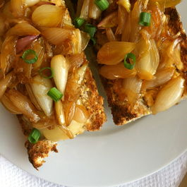 Spicy Tuna Melt with Caramelized Onions