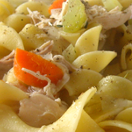 Grandpas Chicken Noodle Soup from scratch