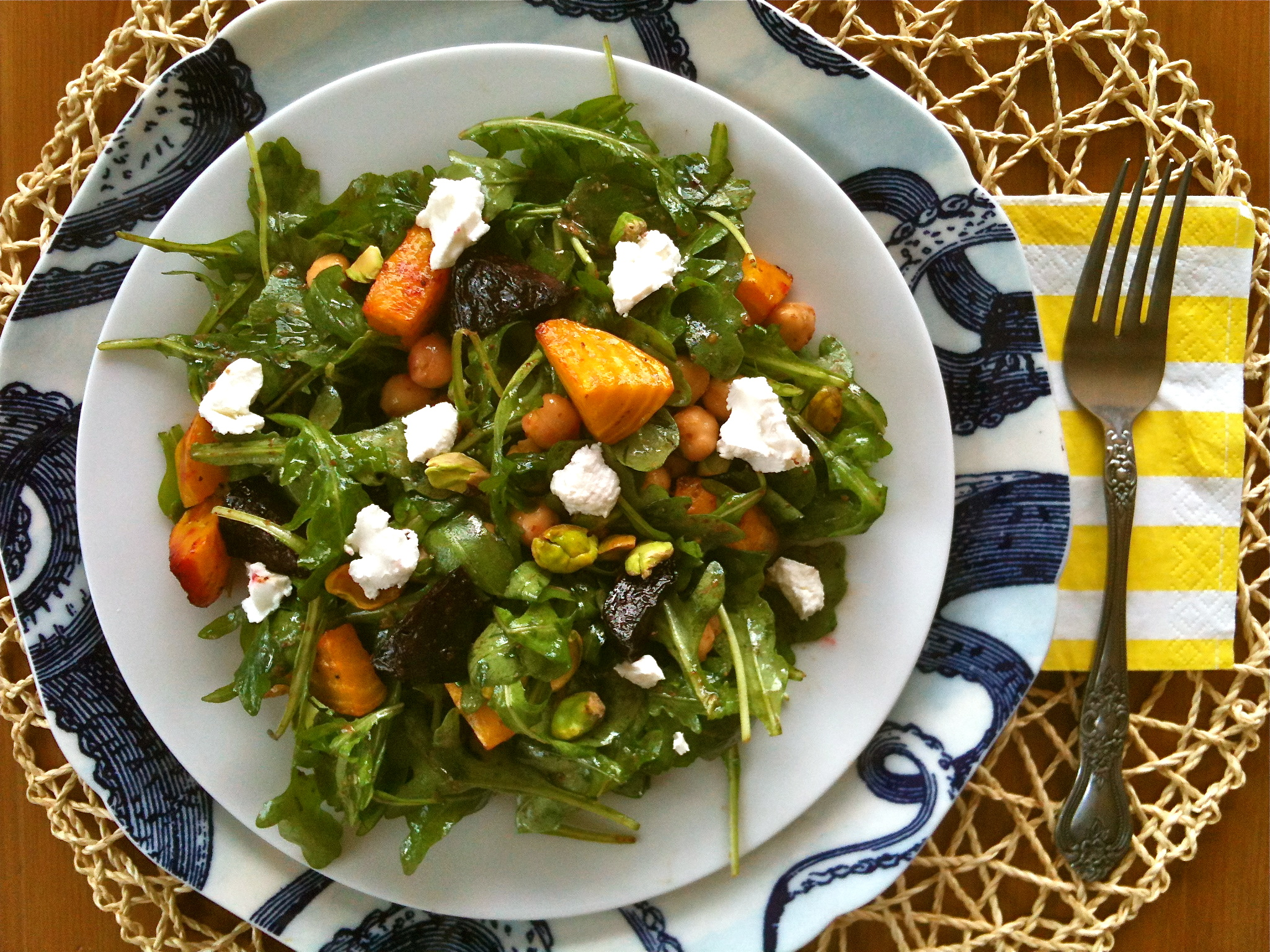 Roasted Beet and Arugula Salad