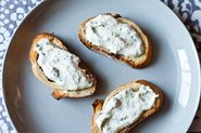 Herbed Ricotta and Anchovy Crostini