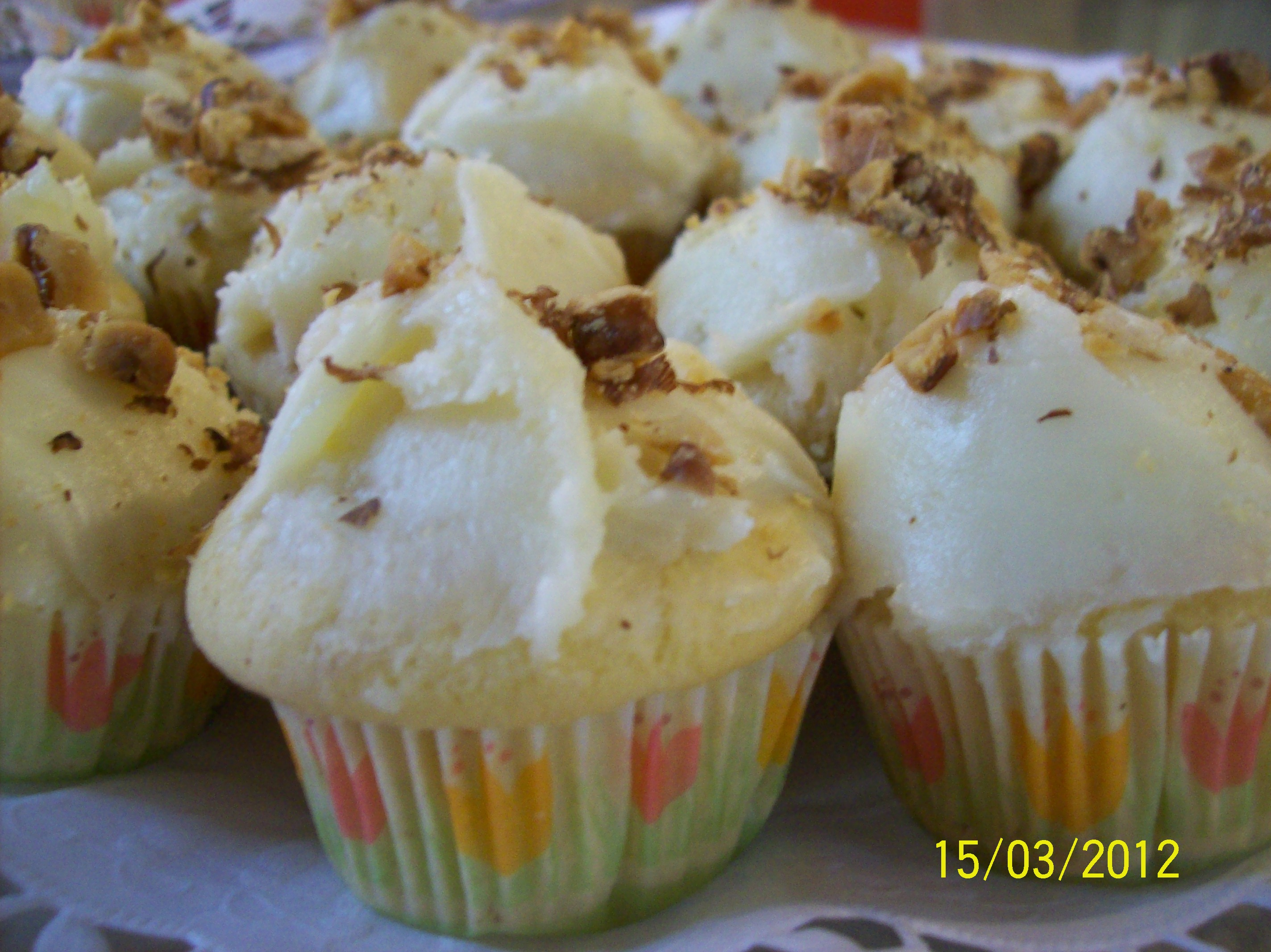 Miniature Guilt Free Maple Coconut Cupcakes
