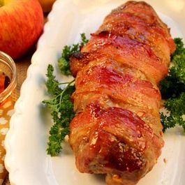 Maple Glazed Stuffed Pork Tenderloin