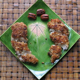 Mustard Pecan Crusted Chicken with Maple Glaze