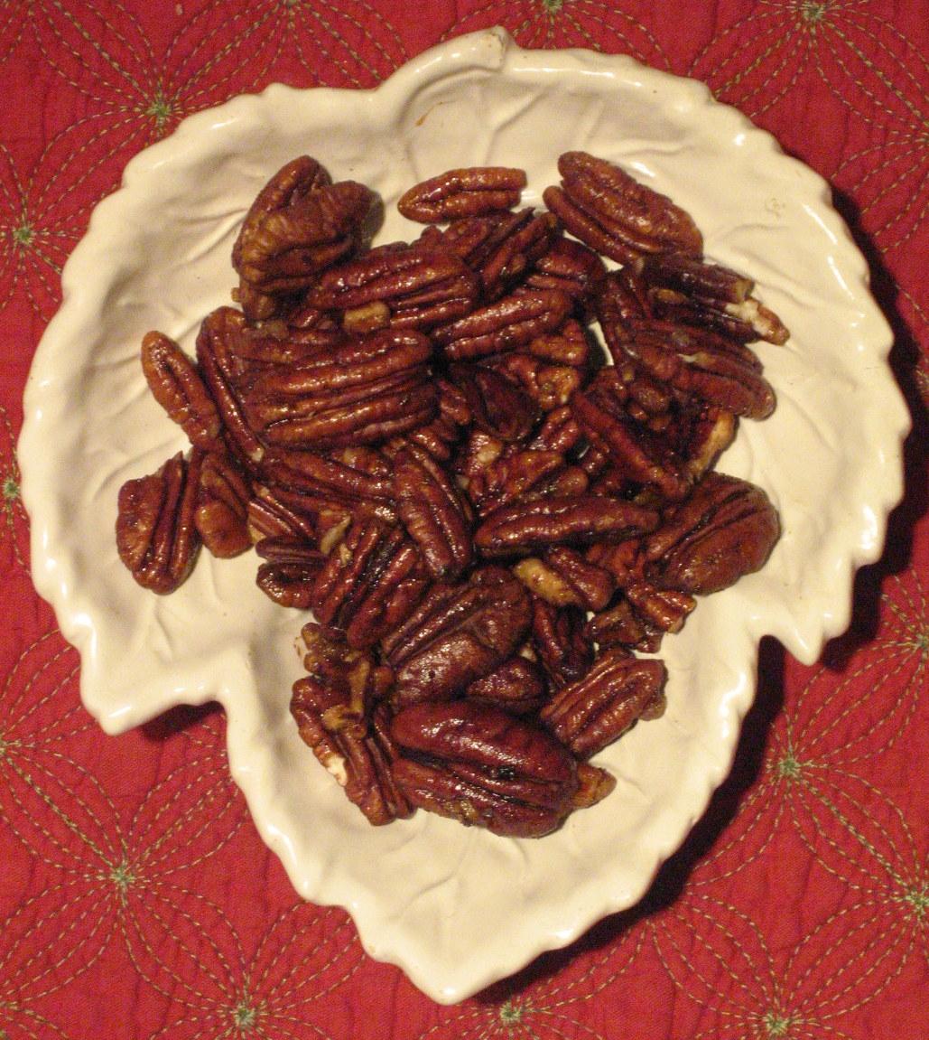 Smoked Maple Glazed Pecans