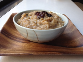Maple rice pudding with bourboned cherries