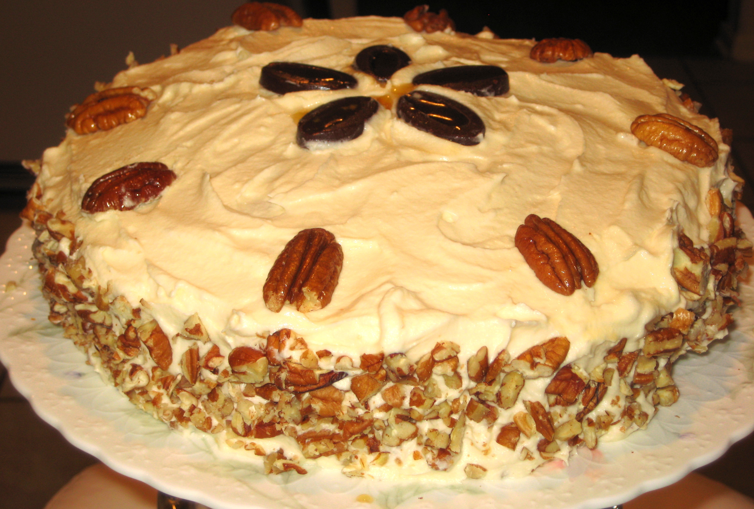 Maple Cake with Maple Pecan Buttercream