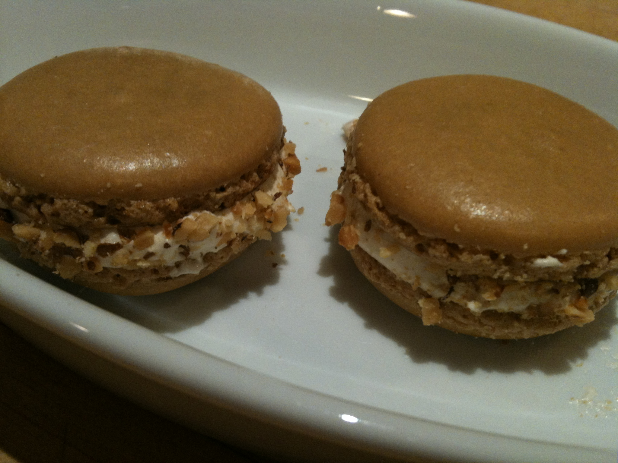 Salted Maple Walnut Macarons