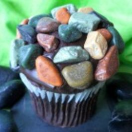 April Fool's Day Rock Cupcakes