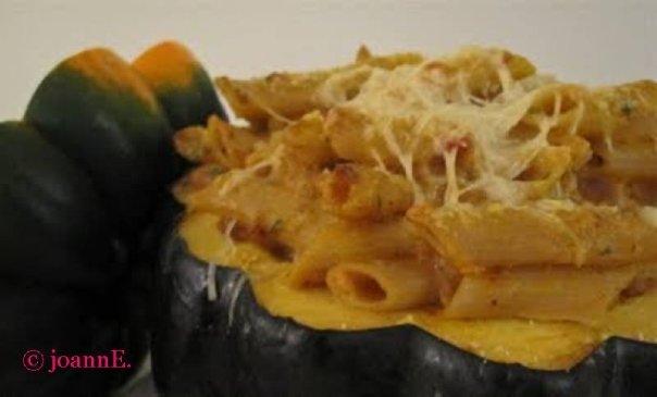Baked Pumpkin Ziti Alfredo