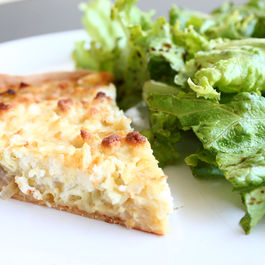 Leek, shallot and goat cheese tart