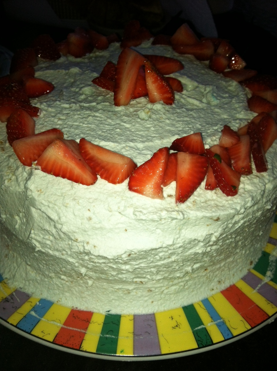 Lemon Poppy Seed Strawberry Cake with Lavender Whipped Cream