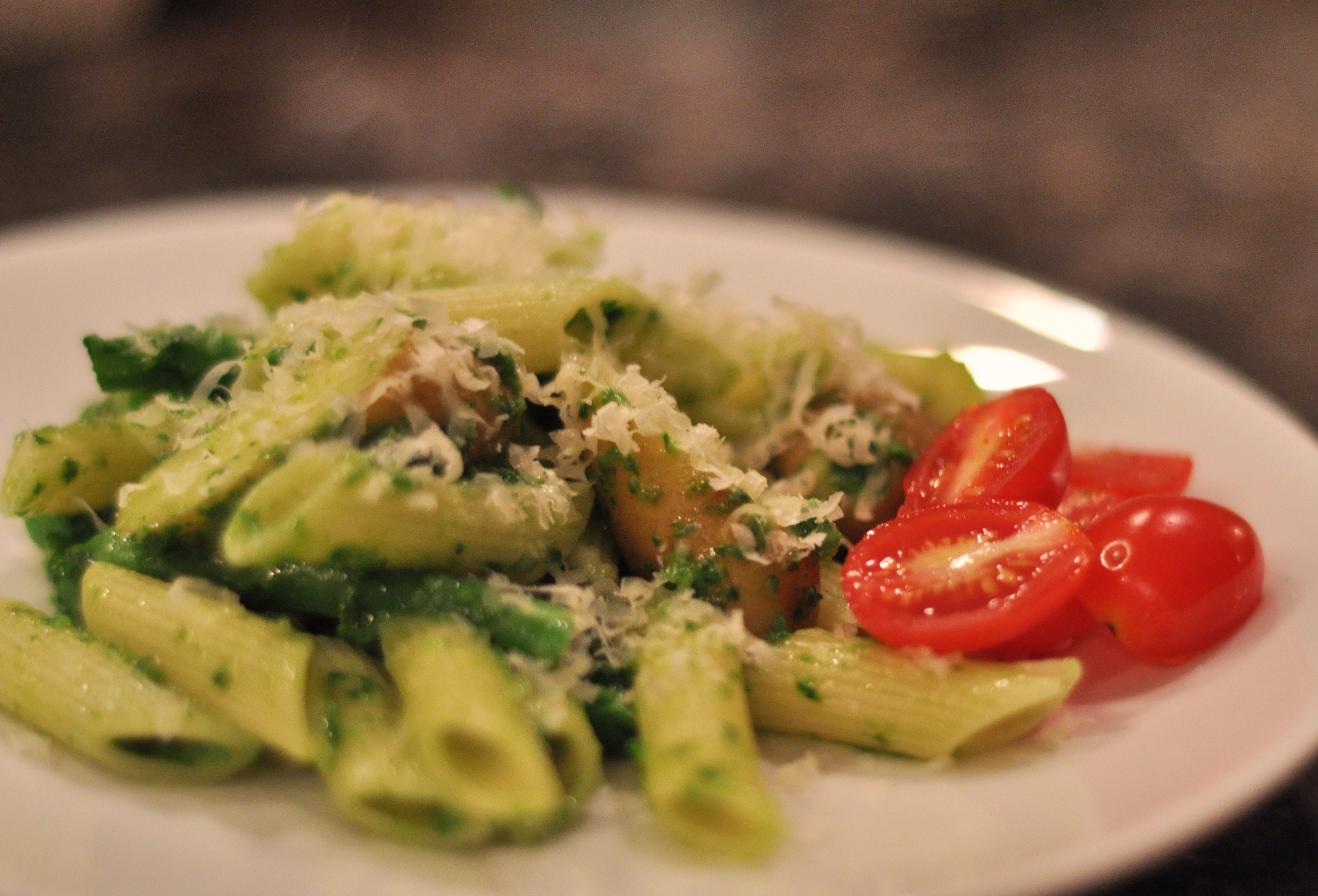Ramp and Green Garlic Pesto and a Riff on a Genoese Favorite