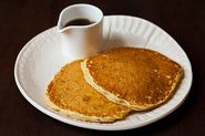 Orange Pecan Pancakes with Depression Syrup