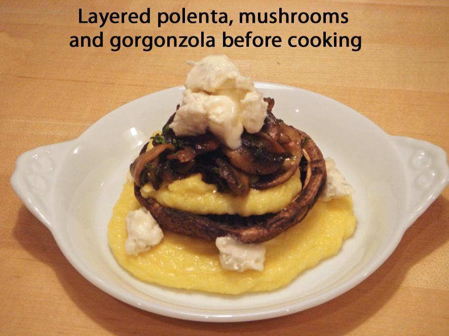Mushroom and Polenta Towers