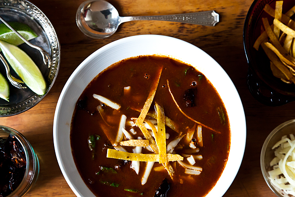 Rick Bayless' Tortilla Soup with Shredded Chard