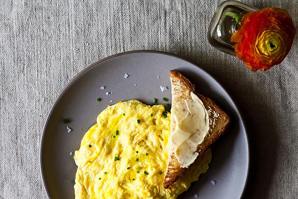 Daniel Patterson's Poached Scrambled Eggs