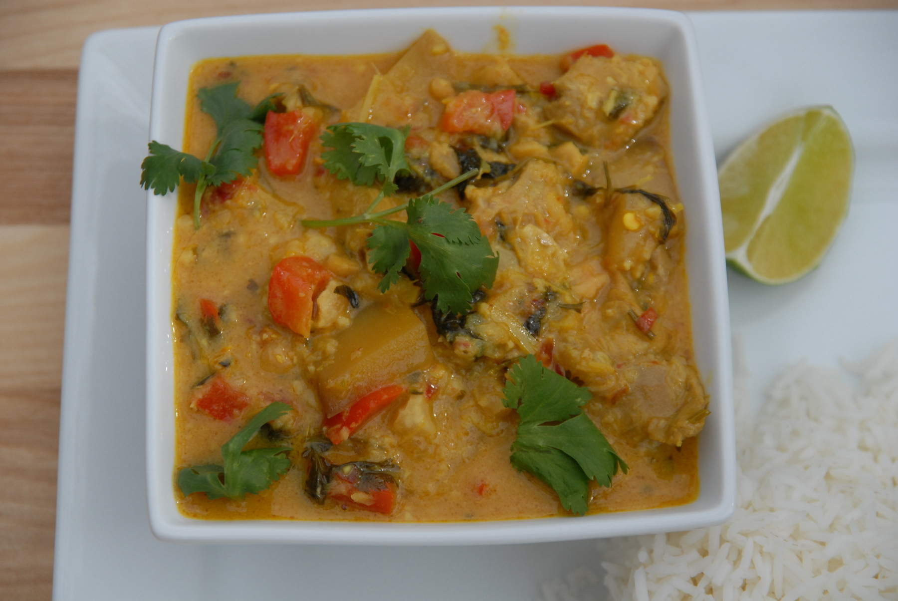 Thai mango curry with chicken - made from scratch