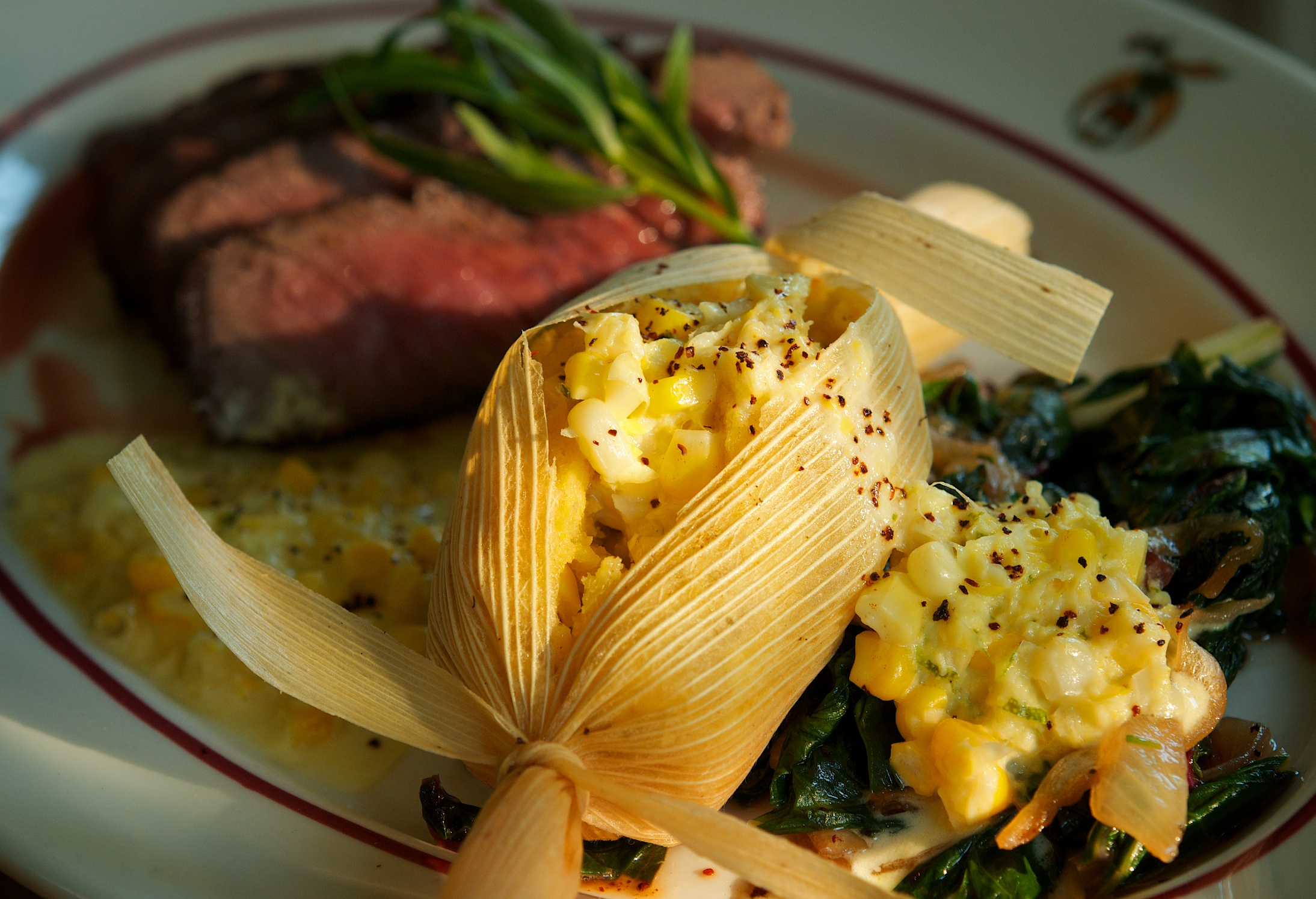 Corn Tamales with Swiss Chard