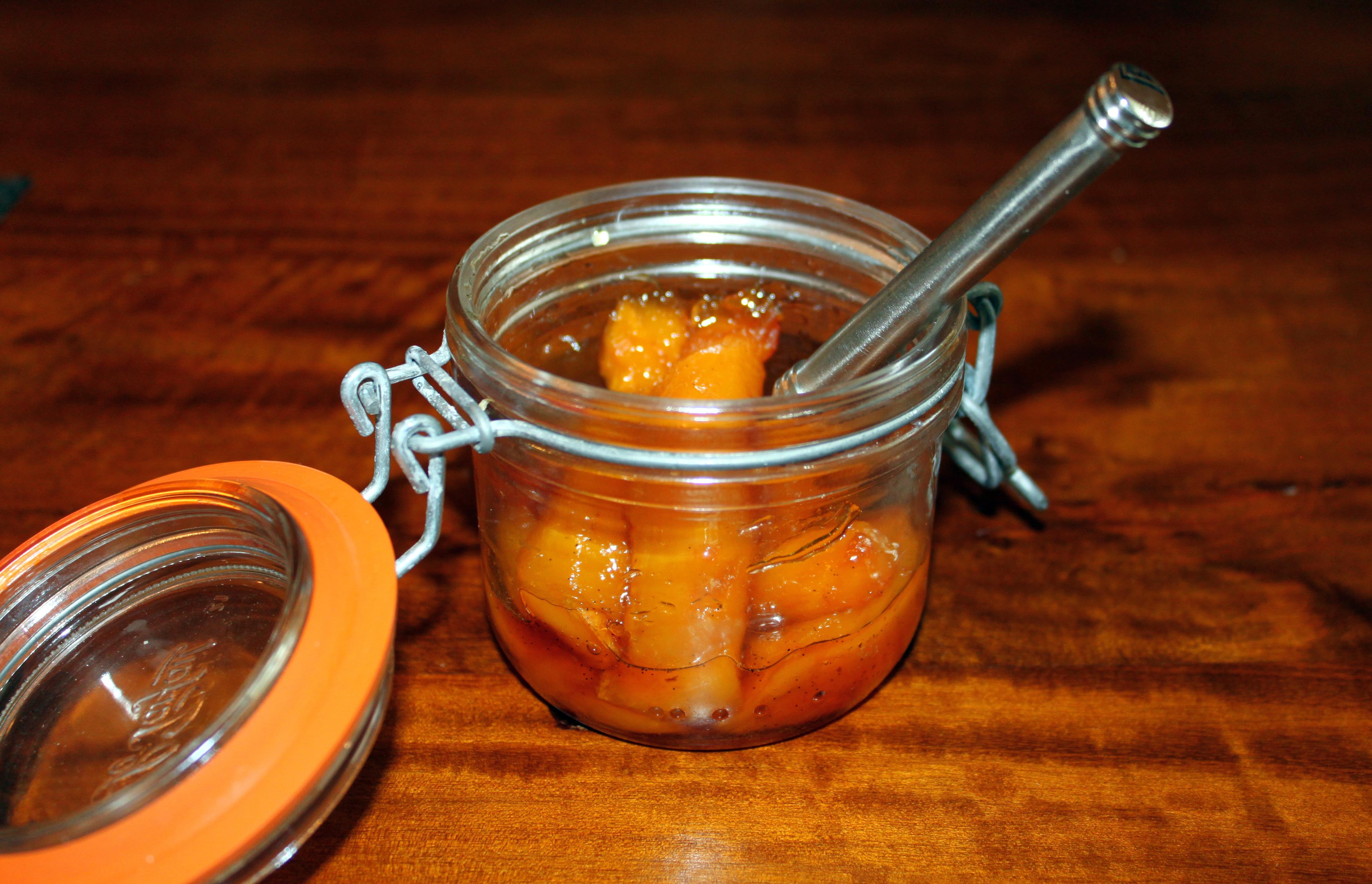 Rum-Spiked Roasted Caramelized Mango