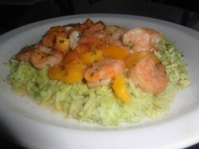 Cajun_shrimp_mango_over_avocado_rice