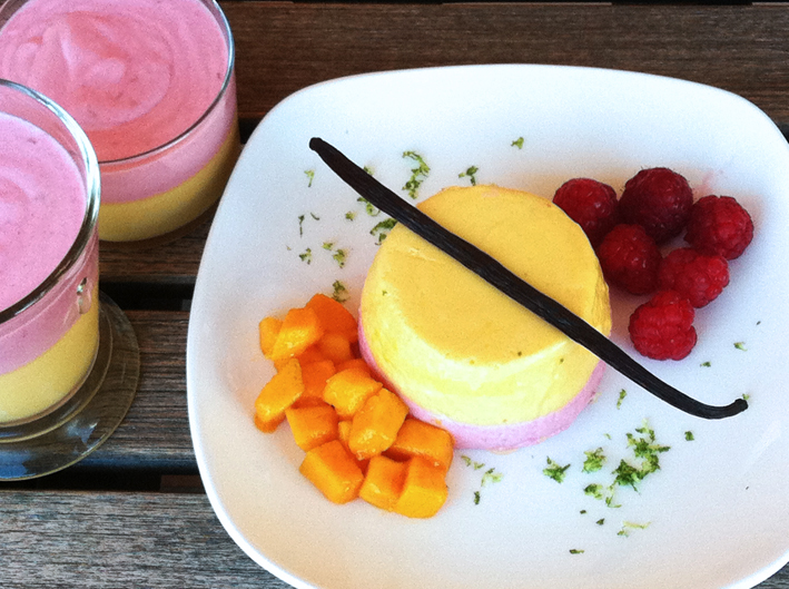 Mango/Lime and Raspberry/Vanilla Mousse