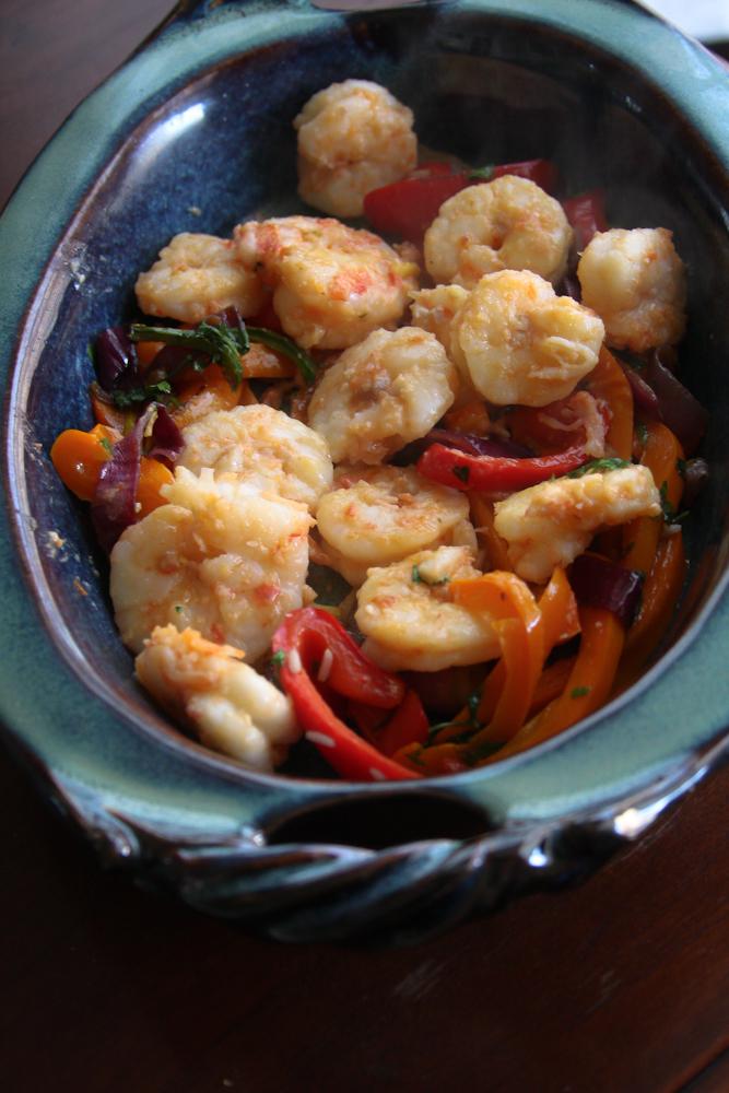 Cinco de Mayo Mango Shrimp Fajita