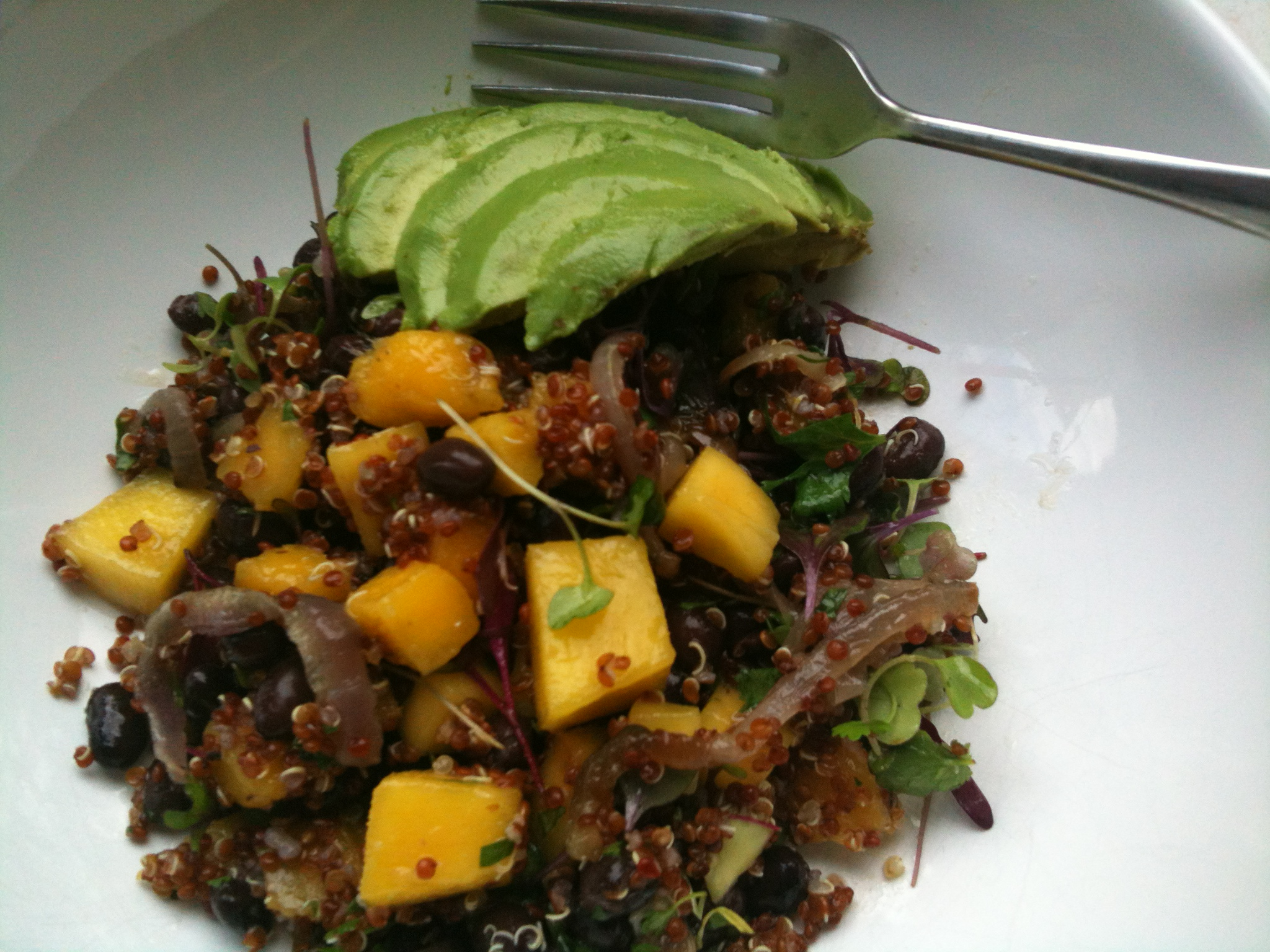 Quinoa and Mango Salad with Lemony-Ginger Dressing