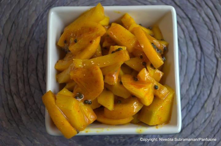 Quick Mango Meyer lemon relish