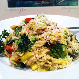 Grilled Chicken and Vegetable Orzo