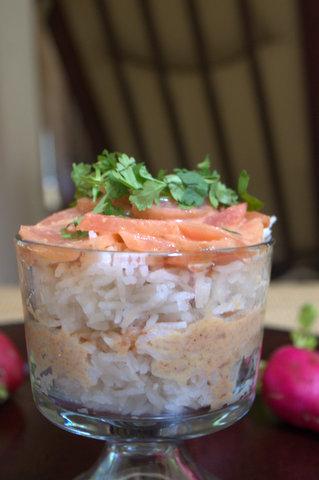 Radish, scallions & coconut Sambar