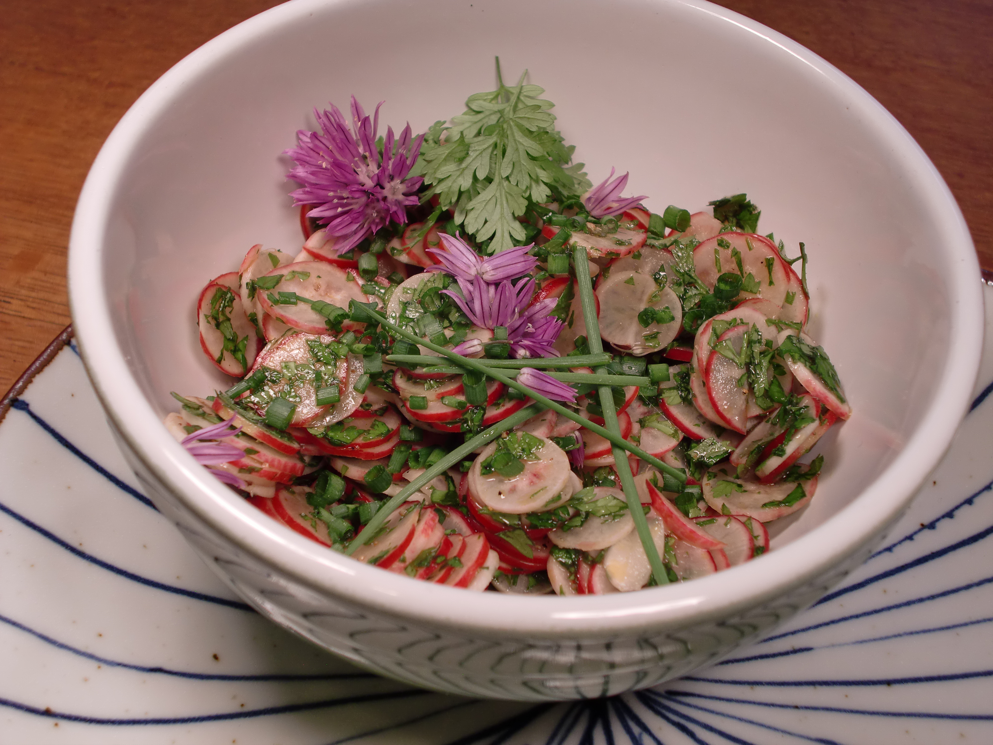 Spring Radish Salad with Chervil and Pepitas