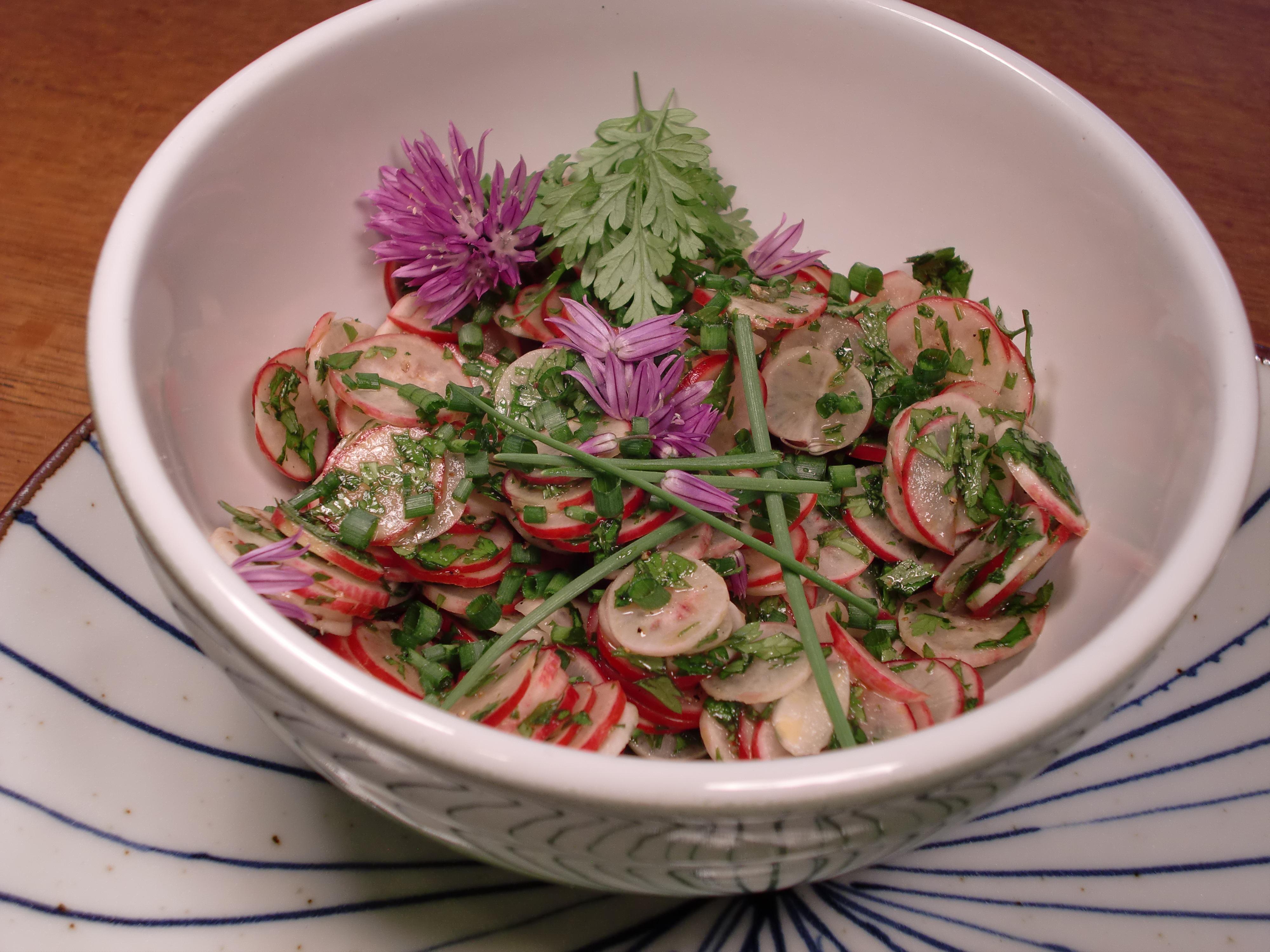 Spring Radish Salad with Chervil and Pepitas