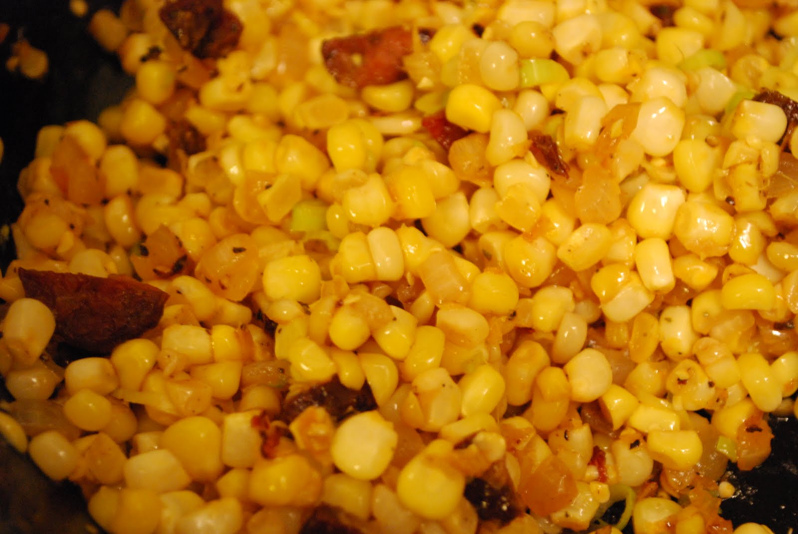 Corn Sauteed with Chorizo