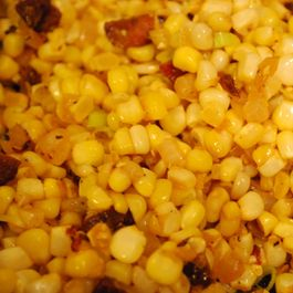 Corn Sauteed with Chorizo