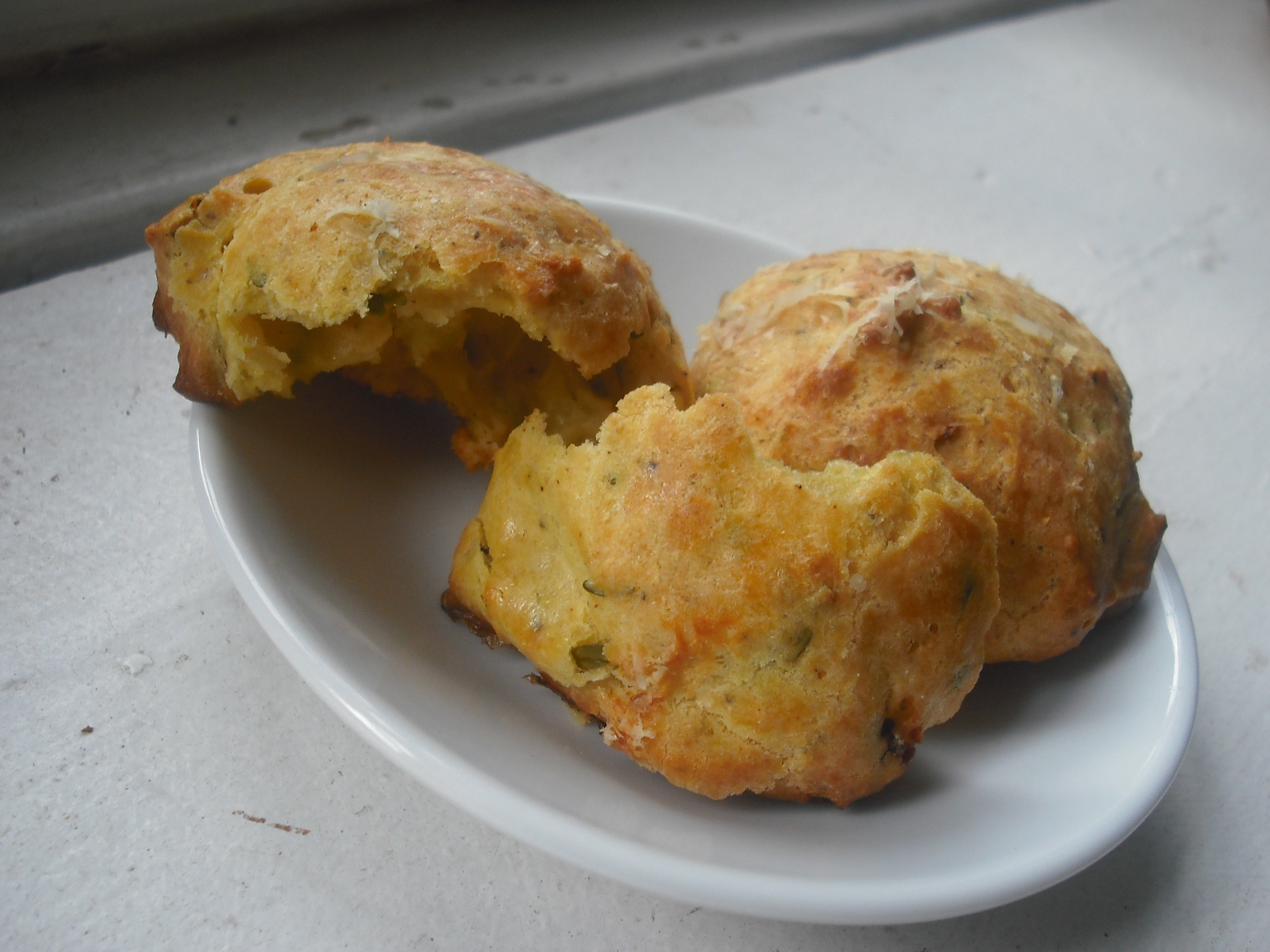 Pub Gougères with Anchovy and Cayenne